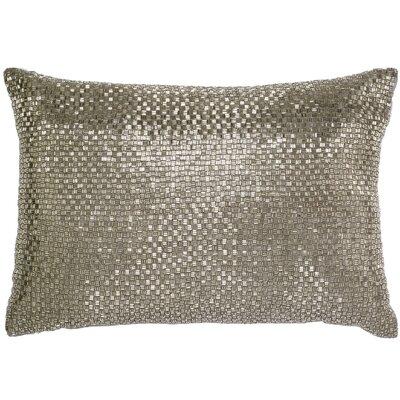 Beadwork Lumbar Pillow Color: Silver