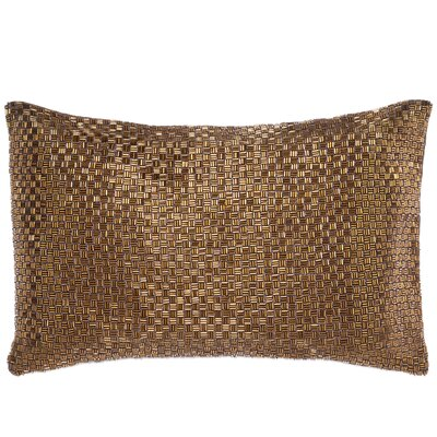 Beadwork Lumbar Pillow Color: Copper