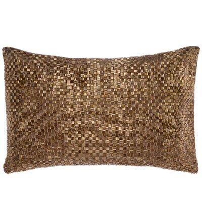 Beadwork Lumbar Pillow Color: Copper