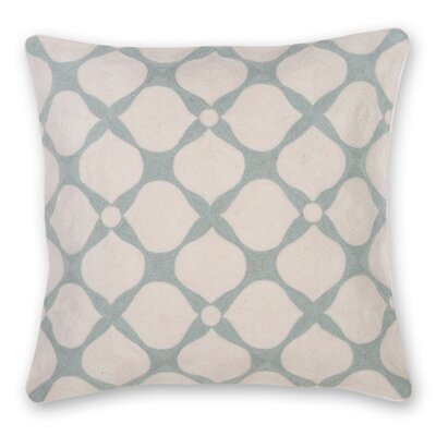 Posy Hand Embroidery Throw Pillow Color: Sage Green