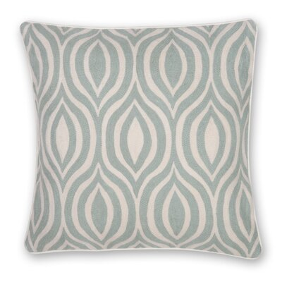Hand Embroidery Throw Pillow Color: Sage Green