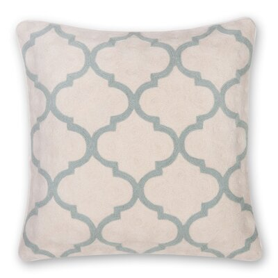 Gopura Hand Embroidery Throw Pillow Color: Sage Green