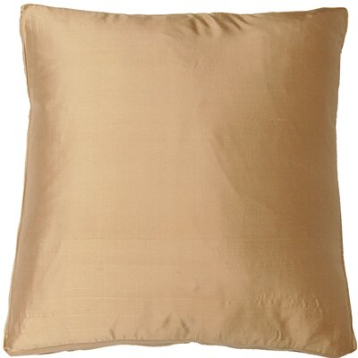 Silk Dupioni Solid Box Throw Pillow Color: Sand