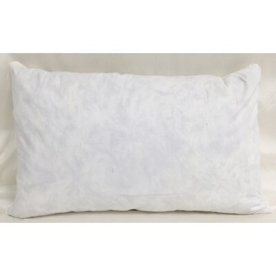 Cotton Pillow Insert Size: 11 H x 19 W x 3 D