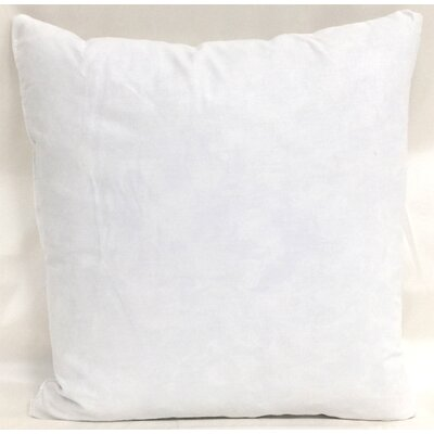 Cotton Pillow Insert Size: 13 H x 13 W x 3 D