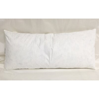 Cotton Pillow Insert Size: 15 H x 32 W x 3 D