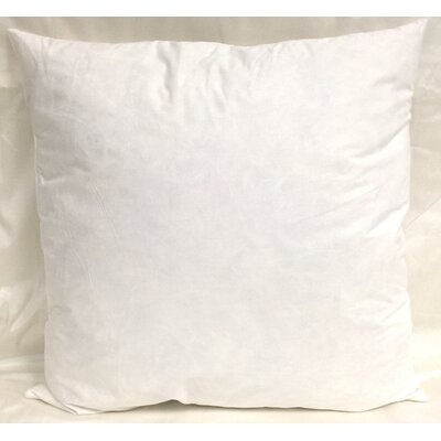 Cotton Pillow Insert Size: 22 H x 22 W x 3 D