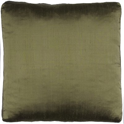 Silk Dupioni Solid Box Throw Pillow Color: Dark Olive