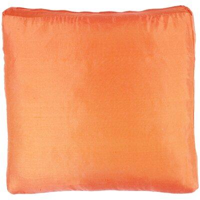 Silk Dupioni Solid Box Throw Pillow Color: Orange