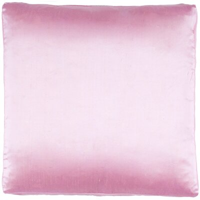 Silk Dupioni Solid Box Throw Pillow Color: Pink