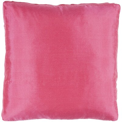 Silk Dupioni Solid Box Throw Pillow Color: Raspberry