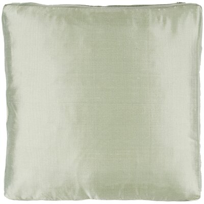 Silk Dupioni Solid Box Throw Pillow Color: Sage