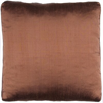 Silk Dupioni Solid Box Throw Pillow Color: Sierra