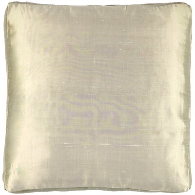 Silk Dupioni Solid Box Throw Pillow Color: Wheat