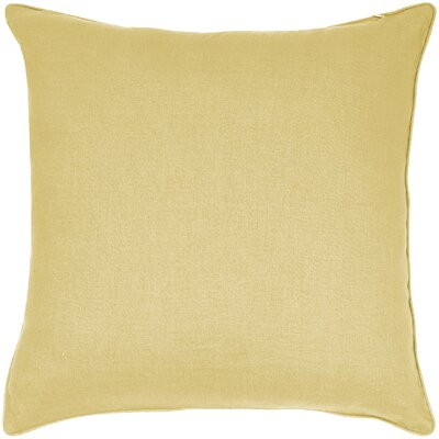 Linen Throw Pillow Color: Lemon
