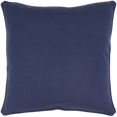 Linen Throw Pillow Color: Navy