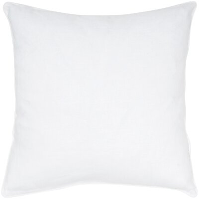 Linen Throw Pillow Color: White