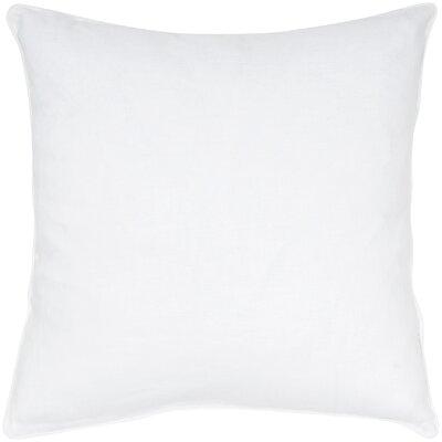 Linen Throw Pillow Color: White