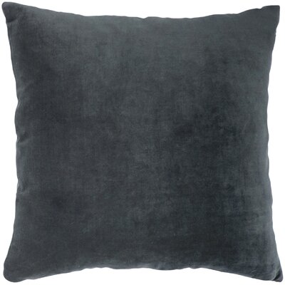 Valencia Velvet Throw Pillow Color: Charcoal