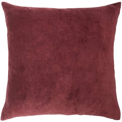 Valencia Velvet Throw Pillow Color: Orange