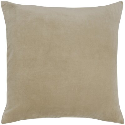 Valencia Velvet Throw Pillow Color: Wheat
