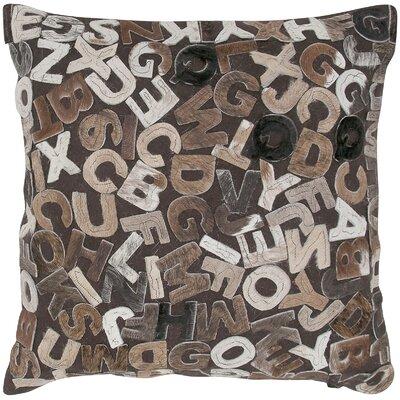 Felt Alphabets Throw Pillow Color: Mix Natural