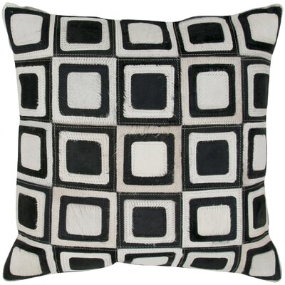 Leather Square Throw Pillow