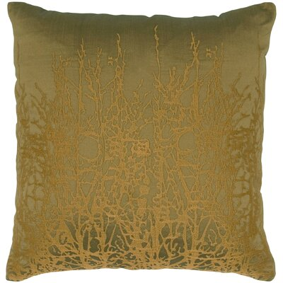 Print Taffeta Throw Pillow Color: Brown