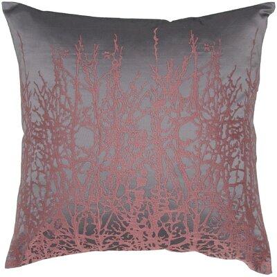 Print Taffeta Throw Pillow Color: Plum