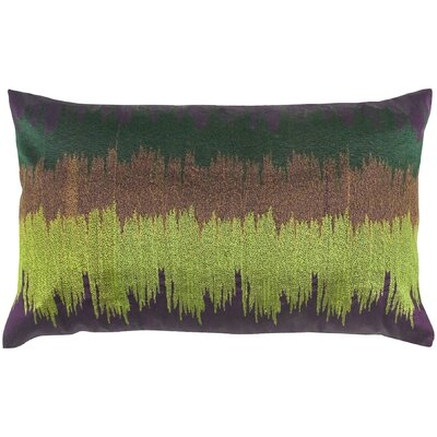 Embroidery Dupion Throw Pillow Color: Purple