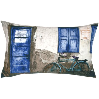 Cycle and Door Print Throw Pillow