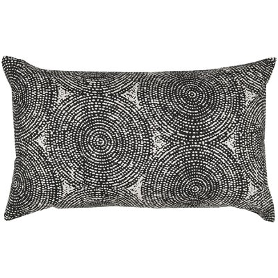 Swirl Print Throw Pillow