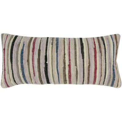 Chindi Shaggy Throw Pillow Color: Beige