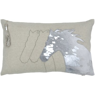 Foil Horse Head Lumbar Pillow