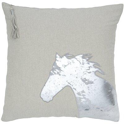 Foil Horse Head Throw Pillow