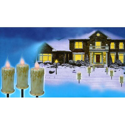 Flicker Flame C7 Candle Pathway Markers Christmas Light