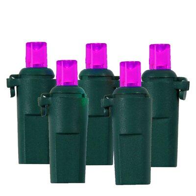 60 LED Wide Angle Christmas Light String Color: Green / Pinkish Purple