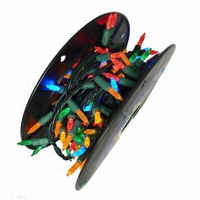 200 Commercial Length LED M5 Christmas Light String on Spool Lights Color: Multi