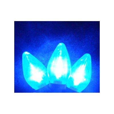 25 Light LED Retro Style C7 Christmas Light String Color: Blue