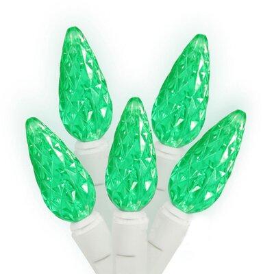 70 Light LED C6 Christmas Light String Lights Color: Green