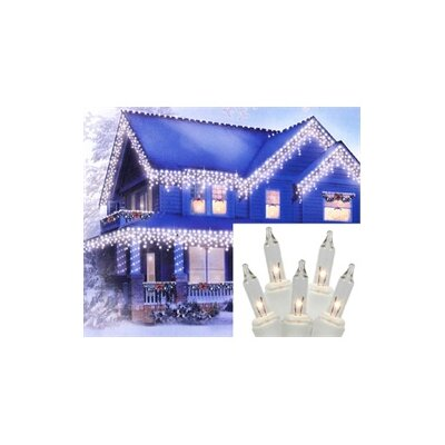 100 Light Mini Icicle Christmas Light String Color: Clear