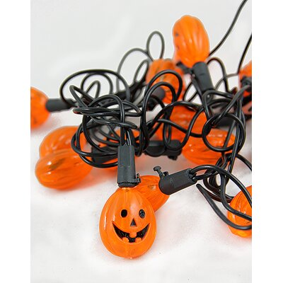 20 Light Jack o' Lantern Pumpkin Halloween Light String