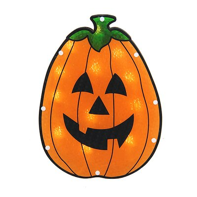 Holographic Pumpkin Halloween Window Silhouette Decoration N240V113