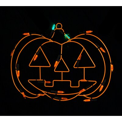 Battery Operated LED Pumpkin Halloween Window Silhouette Decoration N2504E11