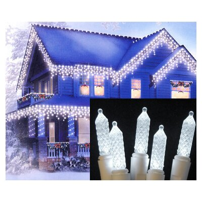 70 LED M5 Twinkle Icicle Christmas Light String Color: Pure White