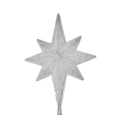 Lighted Frosted Bethlehem Star Christmas Tree Topper