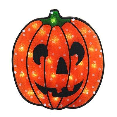 Holographic Jack o' Lantern Pumpkin Halloween Window Silhouette N440V112