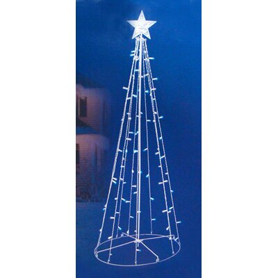 5' LED Lighted Outdoor Twinkling Christmas Tree Yard Decoration Light Color: Blue / White
