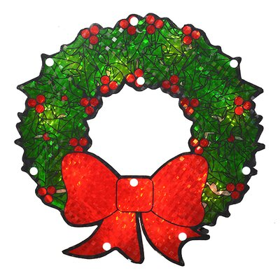 Lighted Holographic Berry Wreath Christmas