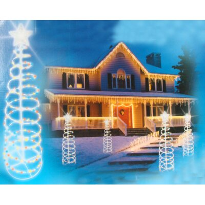 Lighted Outdoor Spiral Christmas Tree Yard Decoration